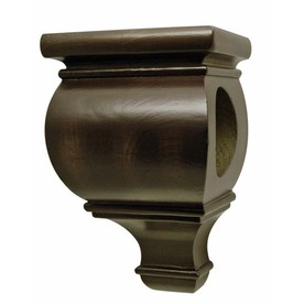 allen + roth 2-Pack Mink Wood Drapery Sconce