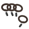 allen + roth 7-Pack Sienna Wood Curtain Rod Clip Rings