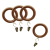 allen + roth 7-Pack Tortoise Wood Curtain Rings