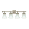Portfolio 4-Light Trent Brushed Nickel Bathroom Vanity Light