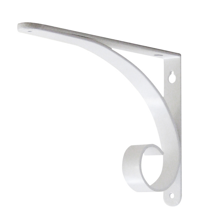 selections 9 in x 6 1 2 in white decorative shelf bracket at