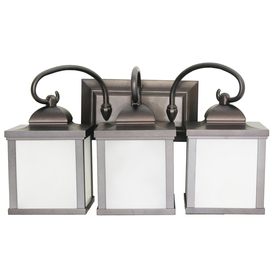 Shop Portfolio 3-Light Oiled Bronze Bathroom Vanity Light at Lowes.com