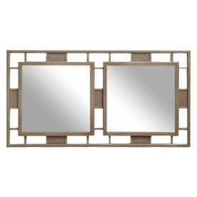 allen + roth 32-in x 18-in Bronze Beveled Rectangle Framed Venetian Wall Mirror