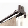 allen + roth 72-in to 144-in Specialty-Bronze Metal Double Traverse Curtain Rod
