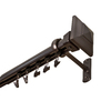 allen + roth 72-in to 144-in Specialty Bronze Metal Traverse Curtain Rod