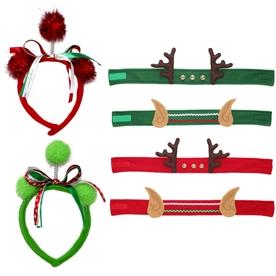 Holiday Living Assorted Christmas Plush Santa Hat