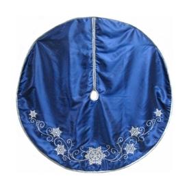 shop living 56 in blue satin tree skirt