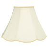 allen + roth 13-in x 18-in Cream Fabric Bell Lamp Shade