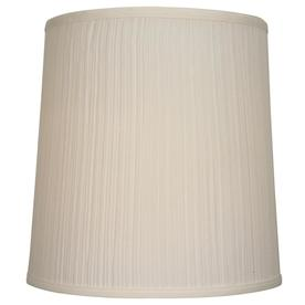 allen + roth 14-in x 14-in Beige Fabric Drum Lamp Shade