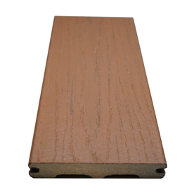 Style Selections 5/4 x 6 x 20 Beechwood Brown Ultra-Low Maintenance Composite Decking