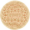 Safavieh Courtyard 5-ft 3-in x 5-ft 3-in Round Beige Transitional Indoor/Outdoor Area Rug