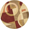 Safavieh 5-ft 9-in Round Beige Flowing Shapes Area Rug