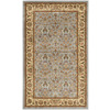 Safavieh Kashan Light Blue and Ivory Rectangular Indoor Machine-Made Throw Rug (Common: 3 x 5; Actual: 39-in W x 63-in L x 0.42-ft Dia)