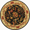 Safavieh Chelsea Round Black Transitional Hand-Hooked Wool Area Rug (Common: 8-ft x 8-ft; Actual: 8-ft x 8-ft)