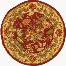 Safavieh Chelsea Red Round Indoor Hand-Hooked Throw Rug (Common: 3 x 4; Actual: 36-in W x 36-in L x 0.33-ft Dia)