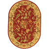 Safavieh Chelsea 4-ft 6-in x 6-ft 6-in Oval Red Transitional Area Rug