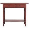 Safavieh American Home Red Pine Rectangular Console and Sofa Table