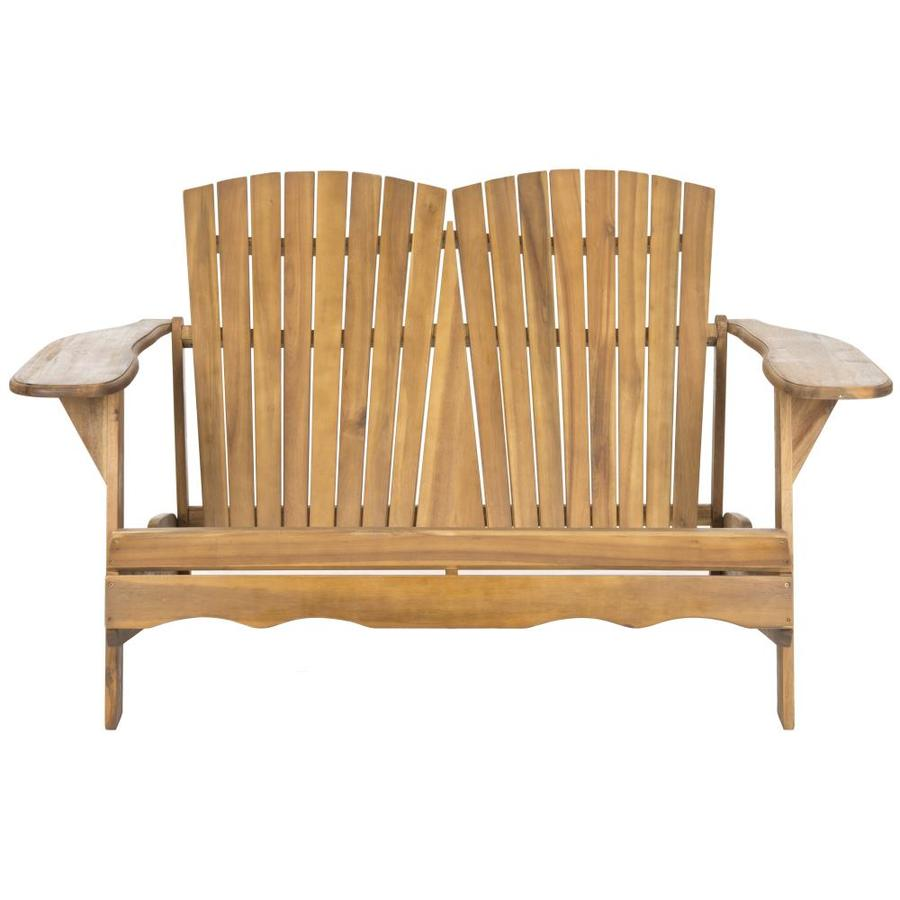 Shop Safavieh 38 In L Painted Wood Patio Bench At