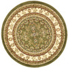 Safavieh Lyndhurst 5-ft 3-in x 5-ft 3-in Round Green Transitional Area Rug