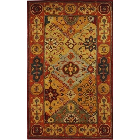 Safavieh Heritage Multicolor Rectangular Indoor Tufted Throw Rug (Common: 3 x 5; Actual: 36-in W x 60-in L x 0.42-ft Dia)
