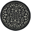 Safavieh Courtyard 6-ft 7-in x 6-ft 7-in Round Black Transitional Indoor/Outdoor Area Rug