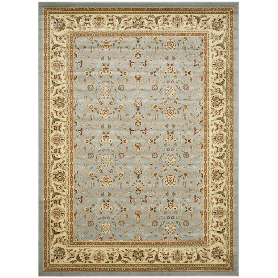 Shop Safavieh Kashan Rectangular Blue Heat Set Area Rug