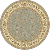 Safavieh Kashan Light Blue and Ivory Round Indoor Machine-Made Area Rug (Common: 8 x 8; Actual: 96-in W x 96-in L x 0.5-ft Dia)