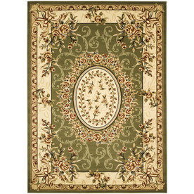 Safavieh Lyndhurst Sage and Ivory Rectangular Indoor Machine-Made Area Rug (Common: 8 x 10; Actual: 96-in W x 132-in L x 0.58-ft Dia)