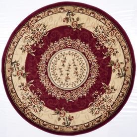 Safavieh Lyndhurst Red and Ivory Round Indoor Machine-Made Area Rug (Common: 5 x 5; Actual: 63-in W x 63-in L x 0.42-ft Dia)