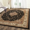 Safavieh Lyndhurst Black and Ivory Rectangular Indoor Machine-Made Area Rug (Common: 8 x 10; Actual: 96-in W x 132-in L x 0.58-ft Dia)