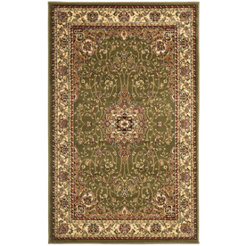 Safavieh Lyndhurst 39-in x 63-in Rectangular Green Transitional Accent Rug