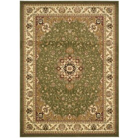 Safavieh Lyndhurst Sage and Ivory Rectangular Indoor Machine-Made Area Rug (Common: 5 x 8; Actual: 63-in W x 90-in L x 0.33-ft Dia)