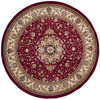 Safavieh Lyndhurst 8-ft x 8-ft Round Red Transitional Area Rug