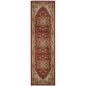 Safavieh Lyndhurst Red and Black Rectangular Indoor Machine-Made Runner (Common: 2 x 8; Actual: 27-in W x 96-in L x 0.58-ft Dia)
