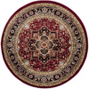 Safavieh Lyndhurst 5-ft 3-in x 5-ft 3-in Round Red Transitional Area Rug