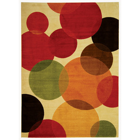 Safavieh 8-ft x 11-ft 2-in  Beige Contemporary Circles Area Rug