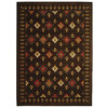 Safavieh 5-ft 3-in x 7-ft 7-in  Chocolate Casual All Over Area Rug