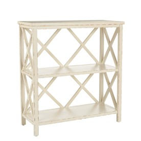 Safavieh American Home Distressed White Pine Rectangular End Table