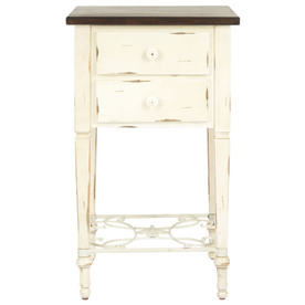 Safavieh American Home White Fir Square End Table