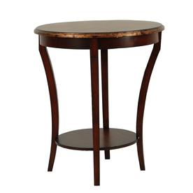 Safavieh American Home Brown Fir Round End Table