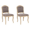 Safavieh Set of 2 Mercer Light Brown Dining Chairs