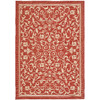 Safavieh Courtyard 8-ft x 11-ft 2-in Rectangular Red Transitional Indoor/Outdoor Area Rug