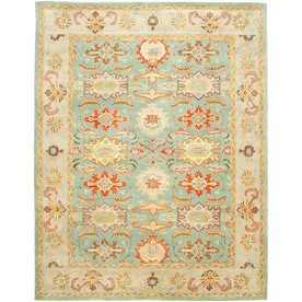 Safavieh Heritage Light Blue and Ivory Rectangular Indoor Tufted Area Rug (Common: 12 x 15; Actual: 144-in W x 180-in L x 1.17-ft Dia)