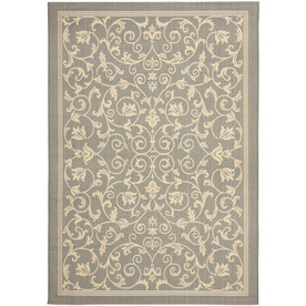 Safavieh Courtyard 8-ft 11-in x 13-ft Rectangular Gray Transitional Indoor/Outdoor Area Rug