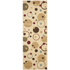Safavieh Porcello Ivory and Multicolor Rectangular Indoor Machine-Made Runner (Common: 2 x 6; Actual: 28-in W x 79-in L x 0.58-ft Dia)