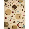Safavieh Porcello Ivory and Multicolor Rectangular Indoor Machine-Made Area Rug (Common: 6 x 9; Actual: 79-in W x 114-in L x 0.58-ft Dia)