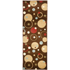 Safavieh Porcello Brown and Multicolor Rectangular Indoor Machine-Made Runner (Common: 2 x 6; Actual: 28-in W x 79-in L x 0.58-ft Dia)