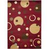 Safavieh Porcello Red and Multicolor Rectangular Indoor Machine-Made Area Rug (Common: 5 x 8; Actual: 63-in W x 91-in L x 0.67-ft Dia)