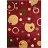 Safavieh Porcello 6-ft 7-in x 9-ft 6-in Rectangular Red Geometric Area Rug