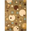 Safavieh Porcello Green and Multicolor Rectangular Indoor Machine-Made Area Rug (Common: 6 x 9; Actual: 79-in W x 114-in L x 0.58-ft Dia)